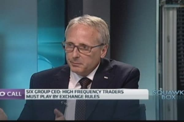 Not worried about HFT trading within rules: Six Group CEO