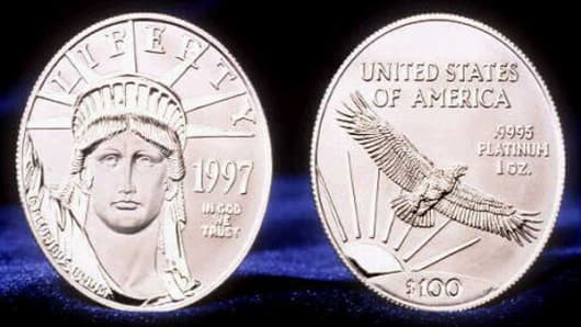 The U.S. Mint's new platinum coins.