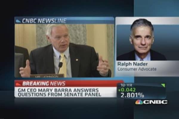 Ralph Nader: GM bureaucracy a big mess