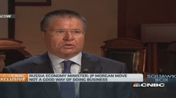 JPMorgan won't face backlash: Russia Econ Min