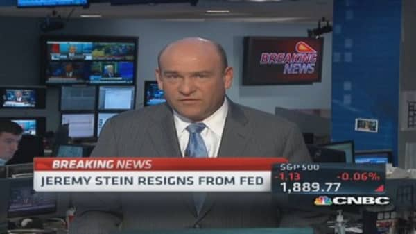 Jeremy Stein resigns from Fed