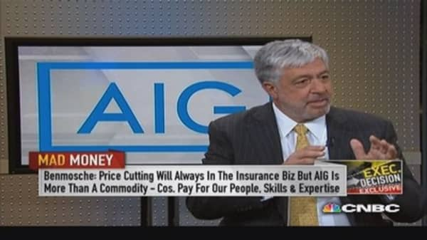 AIG's Benmosche: Insurance not a commodity
