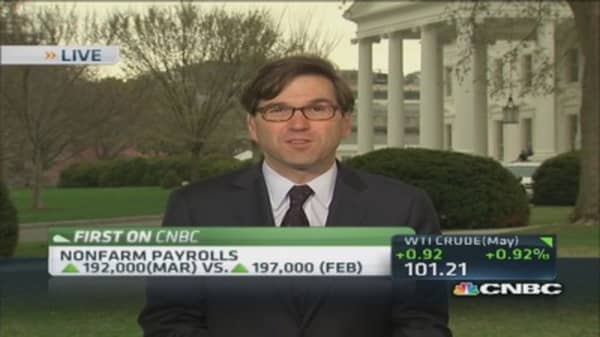 White House: Jobs number 'consistent' with recovery
