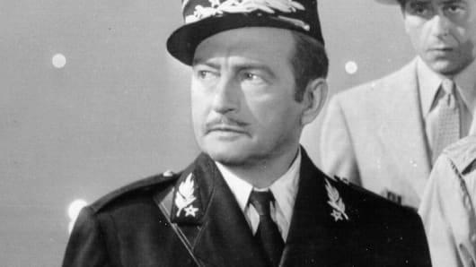 Claude Rains in Casablanca