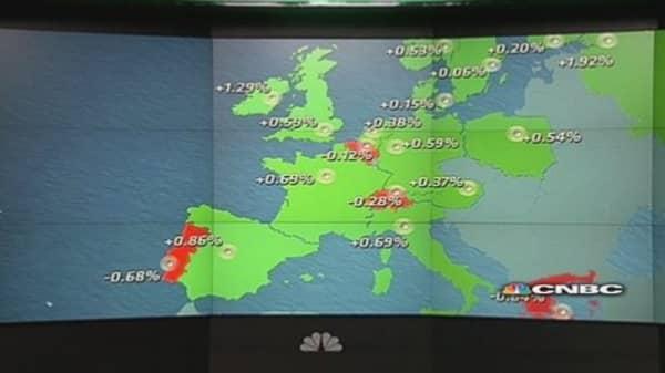 European market ends week in positive territory