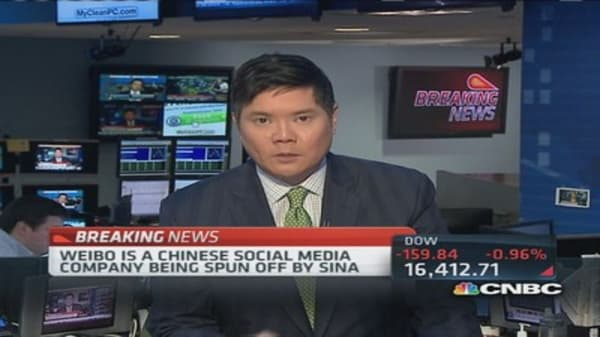 Weibo to raise as much as $380 million