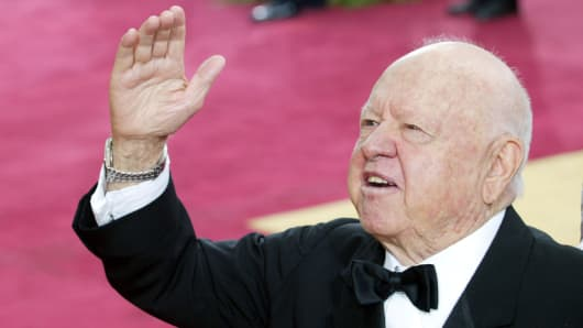 Mickey Rooney at the 2004 Academy Awards.