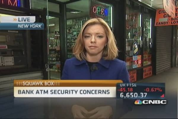 Bank ATM security concerns
