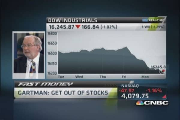 Gartman: Get out of stocks