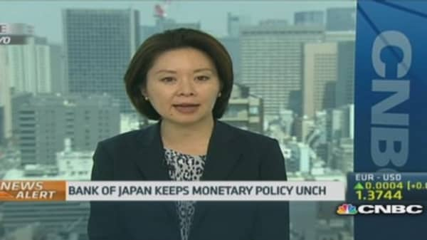 No surprises from the Bank of Japan