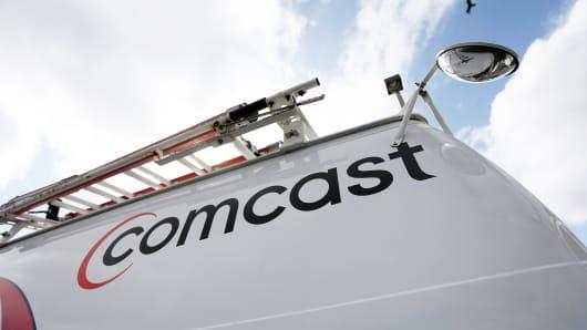 A Comcast truck in Pompano Beach, Florida
