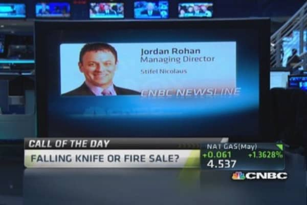 Falling knife or fire sale?
