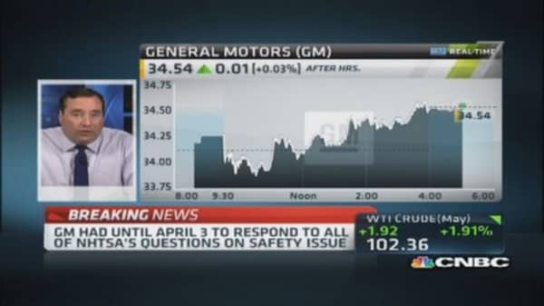 NHTSA fines General Motors
