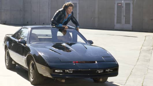 David Hasselhoff as Michael Knight and K.I.T.T.