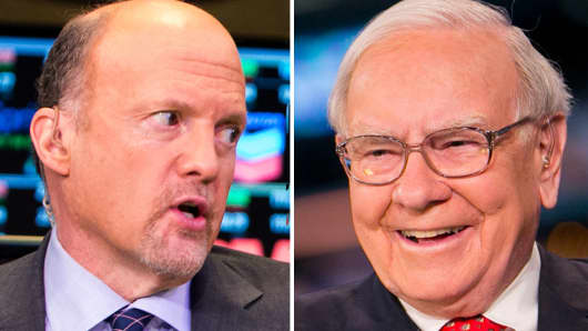 Jim Cramer and Warren Buffett.
