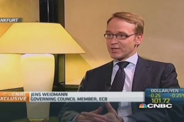 Inflation will rise over time: Bundesbank's Weidmann