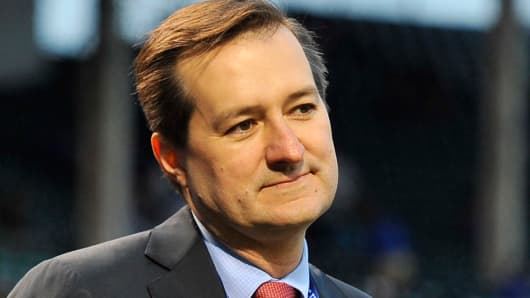Chicago Cubs owner Tom Ricketts, before a game at Wrigley Field.