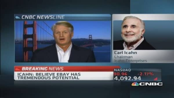 Icahn: eBay's Donahoe has passion, company has potential