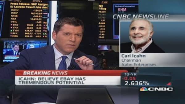 Icahn eased feelings about eBay CEO