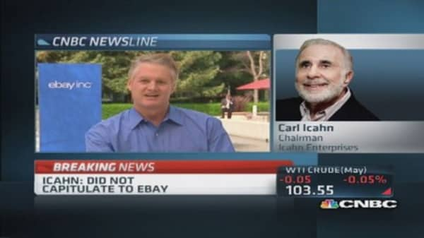 Icahn: eBay very undervalued