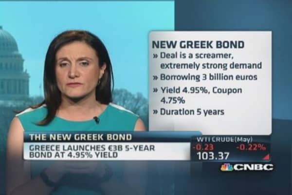 High demand for new Greek bond