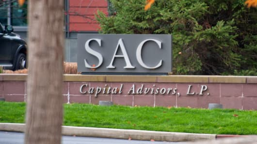 Signage for SAC Capital Advisors at its offices in Stamford, Conn.