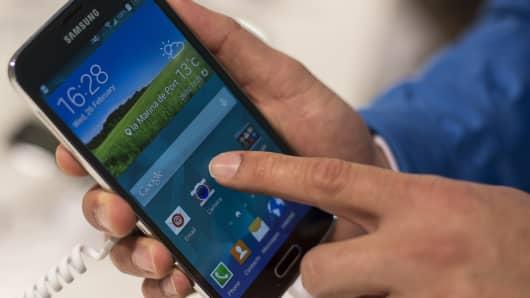 Samsung's Galaxy S5.