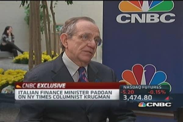 Italy FM Padoan: Austerity works