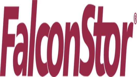 FalconStor Software Logo maroon