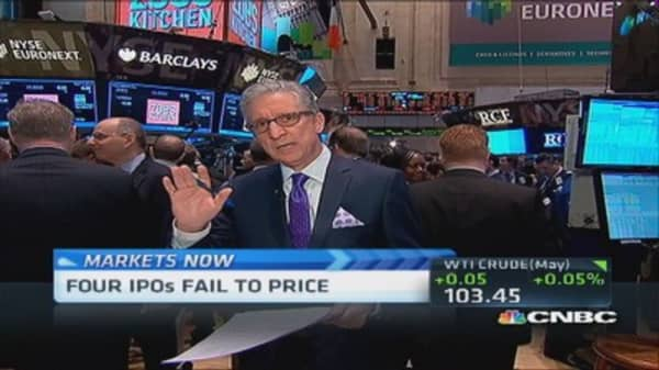 Pisani's markets: Four IPOs fail to price