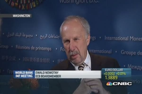 Euro zone still has more to do: Nowotny