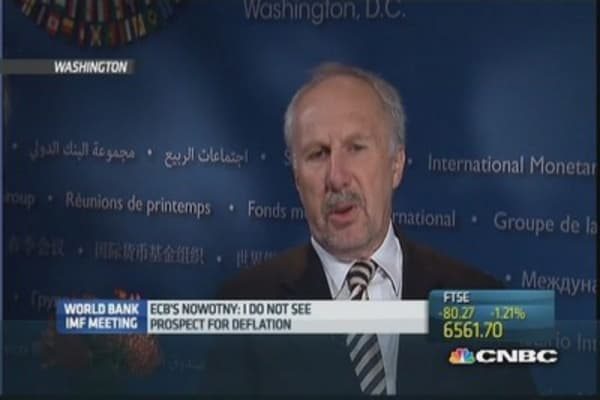 No 'perspective of deflation': Nowotny