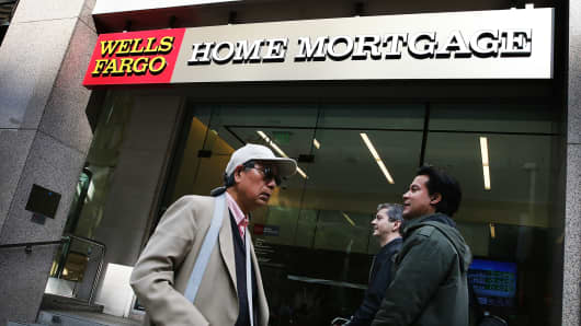 A Wells Fargo home mortgage office in San Francisco.