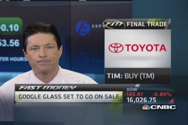 Fast Money Final Trade: TM, GLNG, YHOO, BIIB