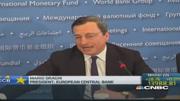 Draghi warns of low interst rate 'implications'