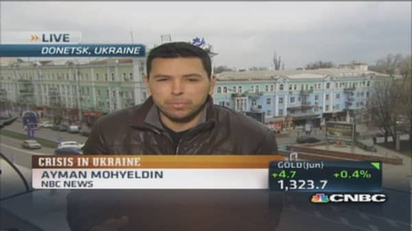 Pro-Russian separatists seize another police station