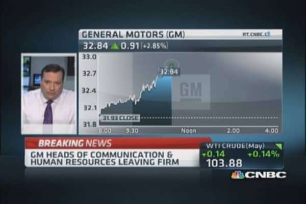 Management shakeup at GM: Report