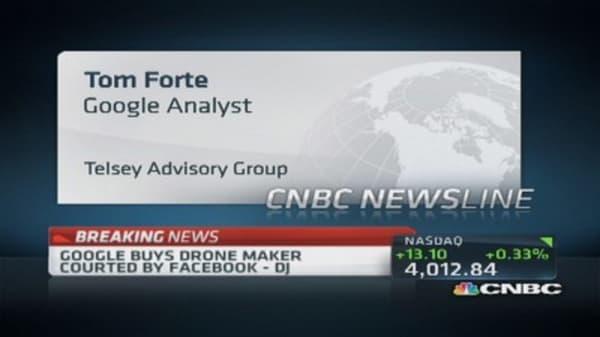 Google buys drone maker: DJ