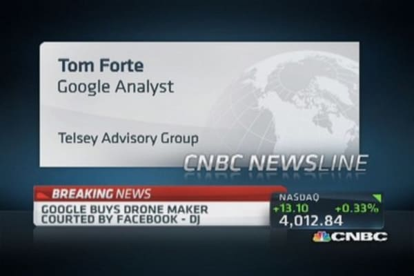 Google buys drone maker: DJ