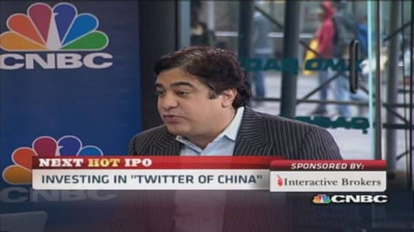 'Twitter of China' Weibo, underpriced?