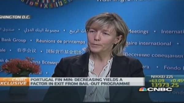 Portugal Fin Min 'glad' about ECB policy talk