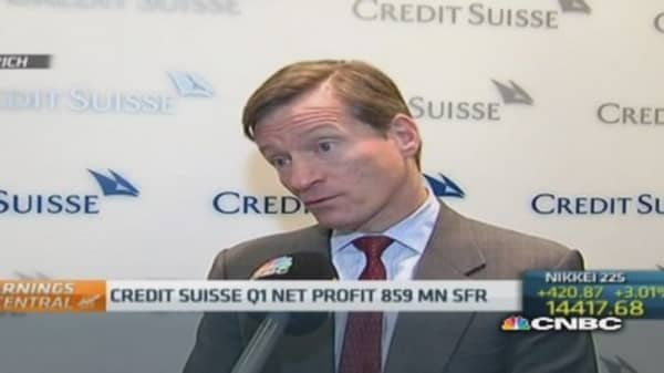 Fixed income business 'strong': Credit Suisse CEO