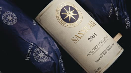 12 bottles of Sassicaia 2004