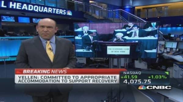 Yellen: FOMC to keep rates low