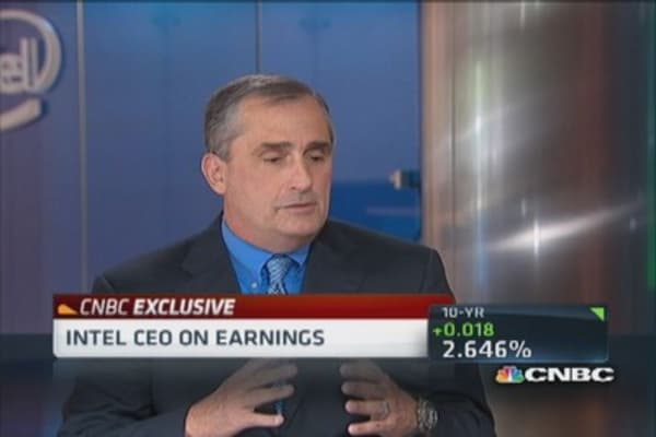 Intel CEO: Enterprise stronger than consumer