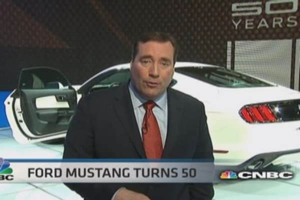 Ford celebrates Mustang's 50th year in New York