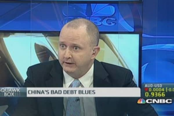 How big is China's bad debt situation?