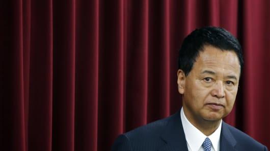 Japan's Economy Minister Akira Amari