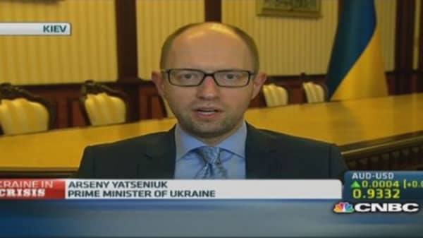 Ukrainian PM: Truce deal depends on Russia