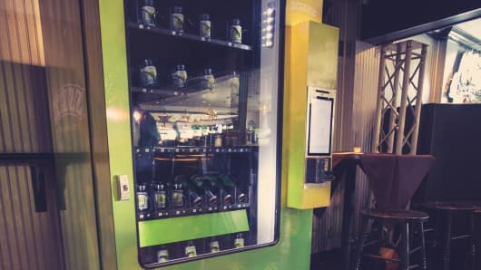 Tranzbyte's medical marijuana vending machine made its debut in Colorado last week.